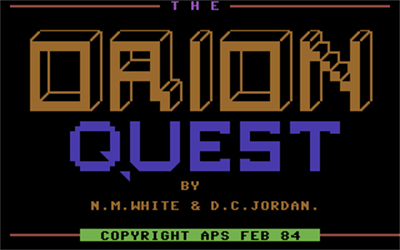 Orion Quest - Screenshot - Game Title