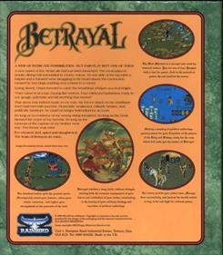 Betrayal - Box - Back