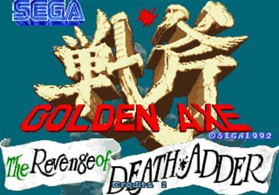 Golden Axe: The Revenge of Death Adder - Screenshot - Game Title