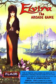 Elvira: The Arcade Game - Advertisement Flyer - Front