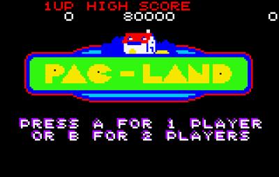 Pac-Land - Screenshot - Game Title