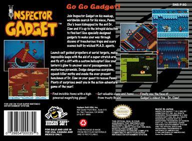 Inspector Gadget - Box - Back