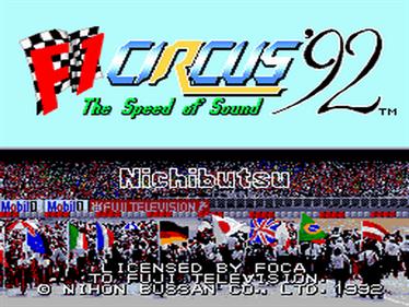 F1 Circus '92 - Screenshot - Game Title