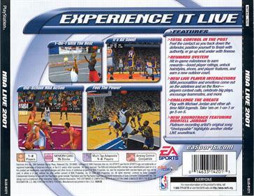 NBA Live 2001 - Box - Back