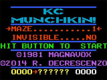 K.C. Munchkin - Screenshot - Game Title