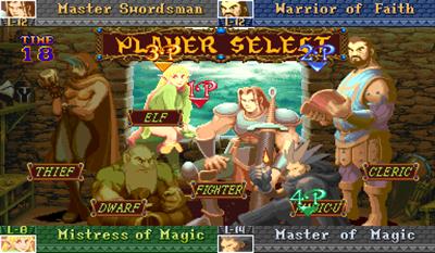 Dungeons & Dragons: Shadow Over Mystara - Screenshot - Game Select