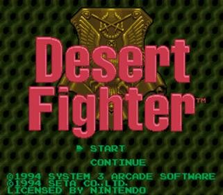 A.S.P.: Air Strike Patrol - Screenshot - Game Title