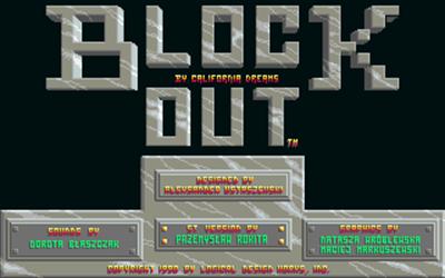 Blockout - Screenshot - Game Title