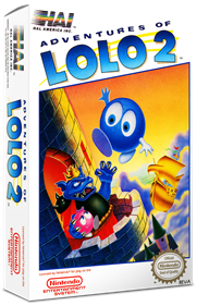 Adventures of Lolo 2 - Box - 3D
