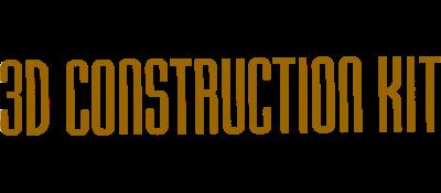 3D Construction Kit - Clear Logo