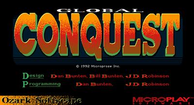 Global Conquest - Screenshot - Game Title