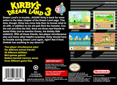 Kirby's Dream Land 3 - Box - Back - Reconstructed