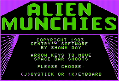 Alien Munchies - Screenshot - Game Title