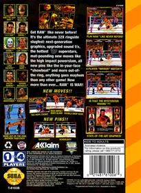 WWF Raw - Box - Back - Reconstructed
