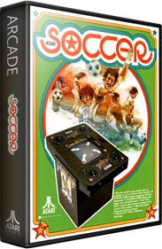 Atari Soccer - Box - 3D