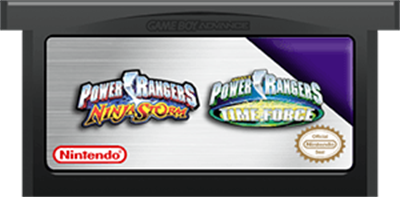 2 Games in 1: Power Rangers: Ninja Storm + Power Rangers: Time Force - Cart - Front