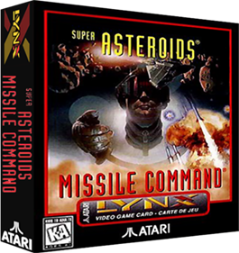Super Asteroids & Missile Command - Box - 3D