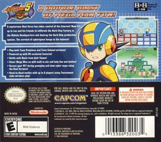 Mega Man Battle Network 5: Double Team DS - Box - Back
