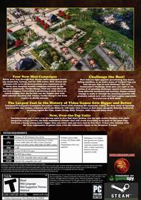 Command & Conquer: Red Alert 3: Uprising - Fanart - Box - Back