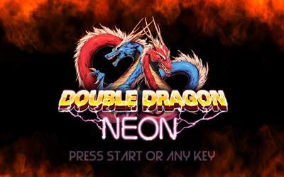 Double Dragon Neon - Screenshot - Game Title