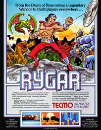 Rygar - Advertisement Flyer - Front