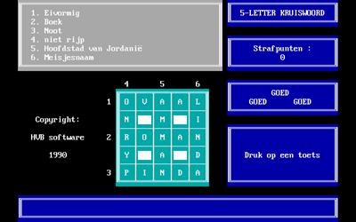 5-Letter-Kruiswoord - Screenshot - Gameplay