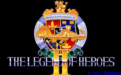 Dragon Slayer: The Legend of Heroes II - Screenshot - Game Title