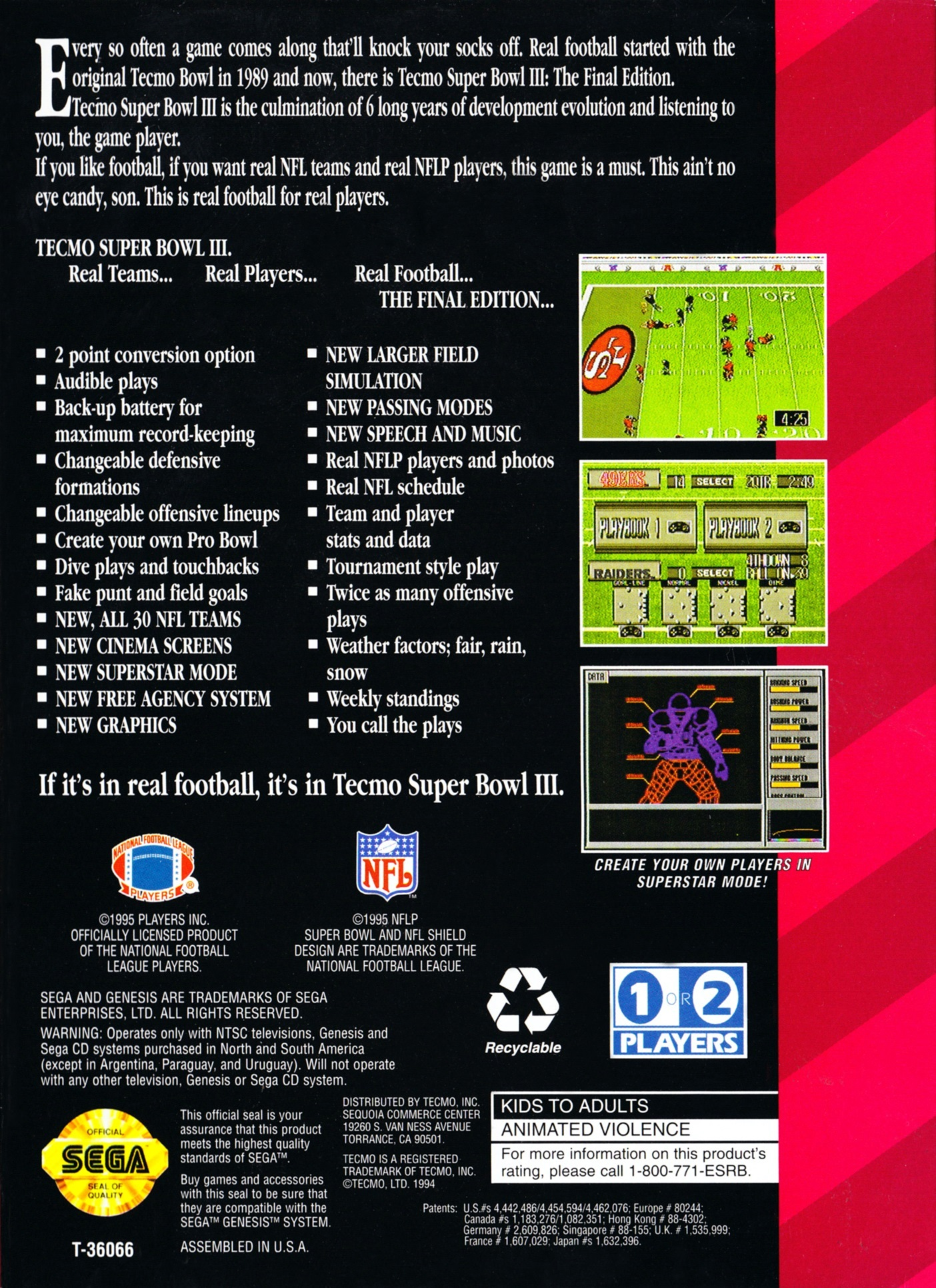Tecmo Super Bowl Iii Final Edition Details Launchbox