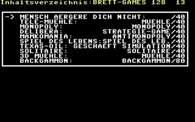 Brett Games 128 - Screenshot - Game Select