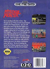 Mystical Fighter - Box - Back