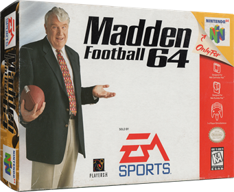 Madden Football 64 - Box - 3D