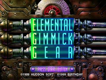 EGG: Elemental Gimmick Gear - Screenshot - Game Title