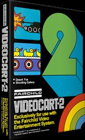 Videocart-2: Desert Fox & Shooting Gallery - Box - 3D