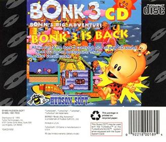 Bonk 3: Bonk's Big Adventure - Box - Back