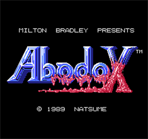 Abadox: The Deadly Inner War - Screenshot - Game Title