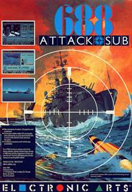 688 Attack Sub - Advertisement Flyer - Front