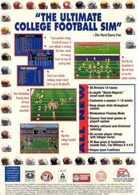 Bill Walsh College Football 95 - Box - Back