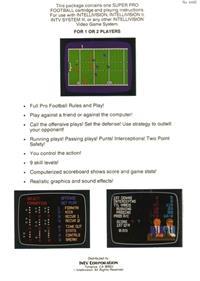 Super Pro Football - Box - Back