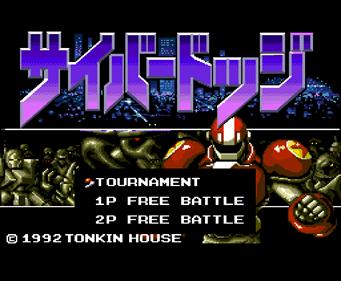 Cyber Dodge - Screenshot - Game Select
