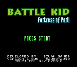 Battle Kid: Fortress of Peril - Screenshot - Game Title