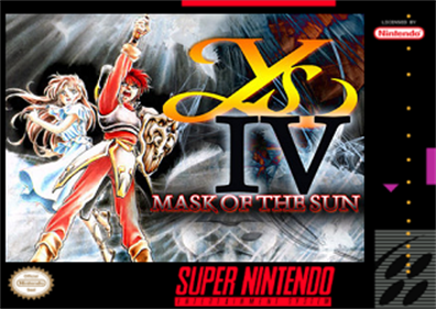 Ys IV: Mask of the Sun - Fanart - Box - Front