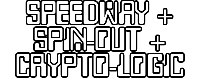 Race / Spin-Out / Cryptogram - Clear Logo