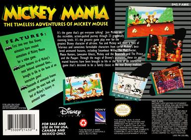 Mickey Mania: The Timeless Adventures of Mickey Mouse - Box - Back