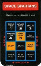 Space Spartans - Arcade - Control Panel