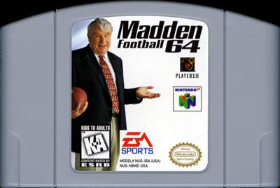 Madden Football 64 - Cart - Front