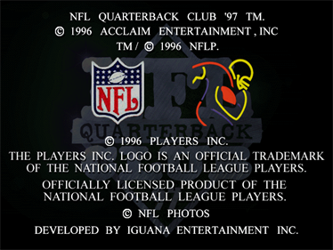 NFL Quarterback Club 97 - Screenshot - Game Title