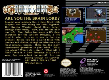 Brain Lord - Box - Back