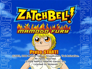 Zatch Bell! Mamodo Fury - Screenshot - Game Title