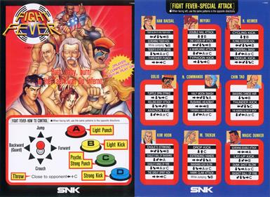 Fight Fever - Arcade - Controls Information