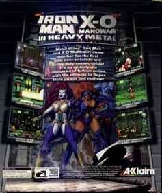Iron Man / X-O Manowar in Heavy Metal - Box - Back
